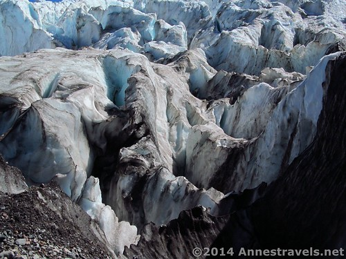 Crevasses near the edge of the Heliotrope Glacier, Mount Baker-Snoqualmie National Forest, Washington