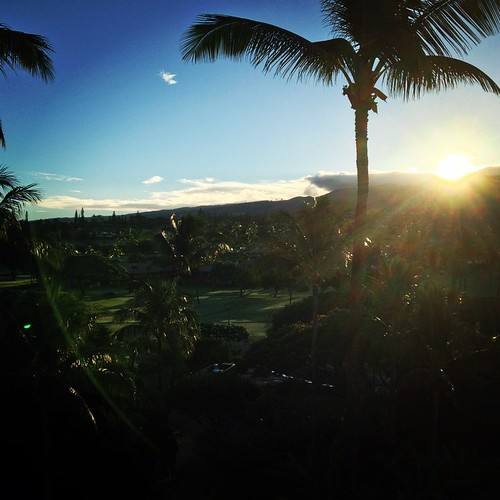 Here comes the sun again. Hotel balcony this time. #maui