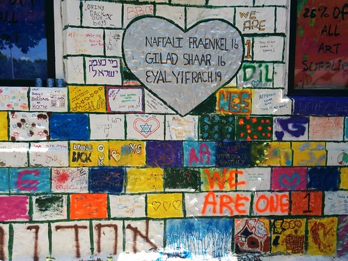 Wall in Memory of Israeli Teens