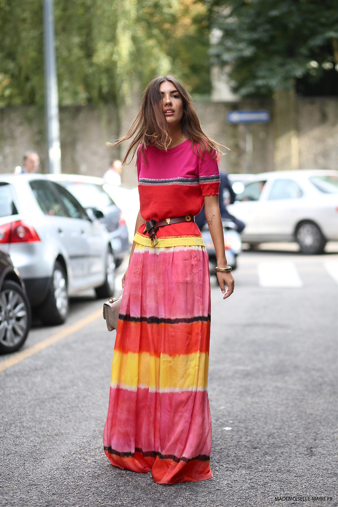 Patricia Manfield at Milan fashion week