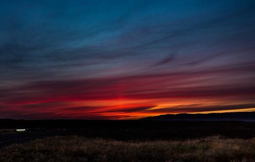 sunset iceland europe borgarfjordur einarschioth
