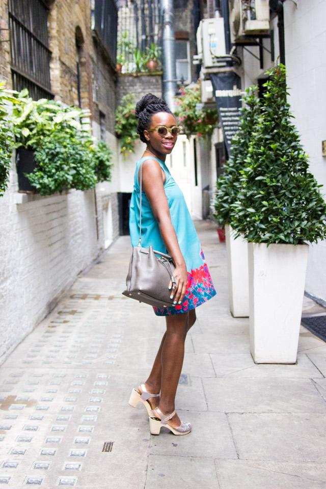 Cacharel sleeveless Azure Poppy dress