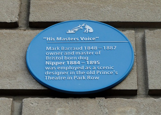 Photo of Nipper and Mark Barraud blue plaque