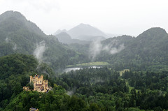 Hohenschwangau from Neuschwanstein