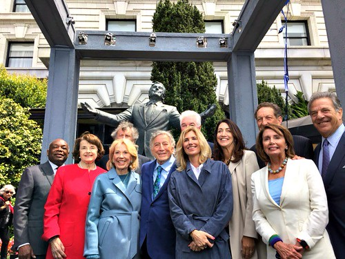 Congresswoman Pelosi at Tony Bennett Statue Unveiling