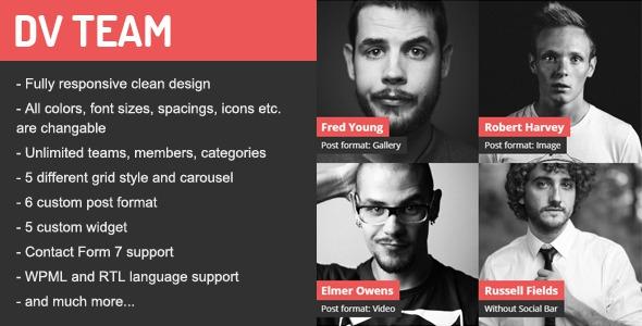 DV Team v1.7.1 – Responsive Team Showcase WordPress Plugin