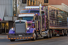 Precision Trucking's Kenworth W900-L at the Shell Rotella SuperRigs parade in downtown Joplin Missouri