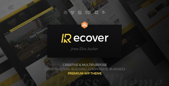 Recover v1.5.4 - Construction Building Business Theme