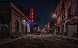 Empty streets,Mexico city
