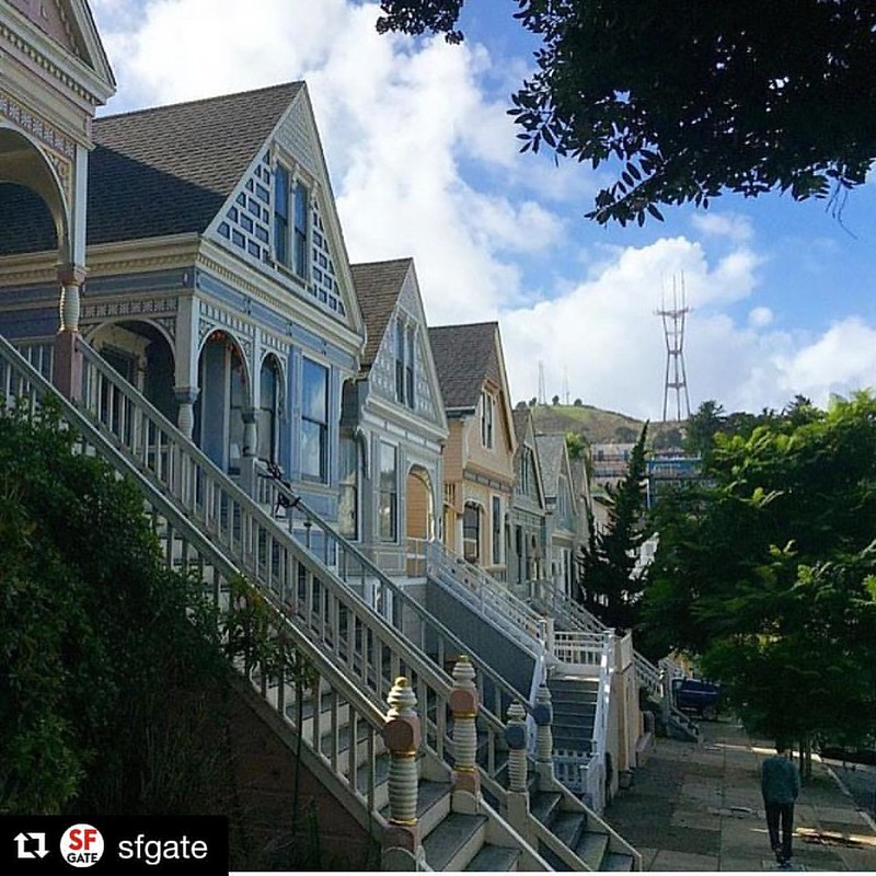 #Repost @sfgate with @repostapp ・・・ Sooo San Francisco. Thanks @maria.bruno.sf for the share. #bayarea #citybythebay #lovesf #onlyinsf #sanfrancisco #sf #sflove #sutro #sutrotower #victorian