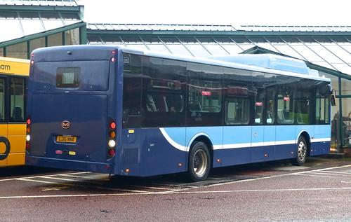 LJ16 NNA 'Nottingham Community Transport' BYD K9UR / BYD /2 on 'Dennis Basford's railsroadsrunways.blogspot.co.uk