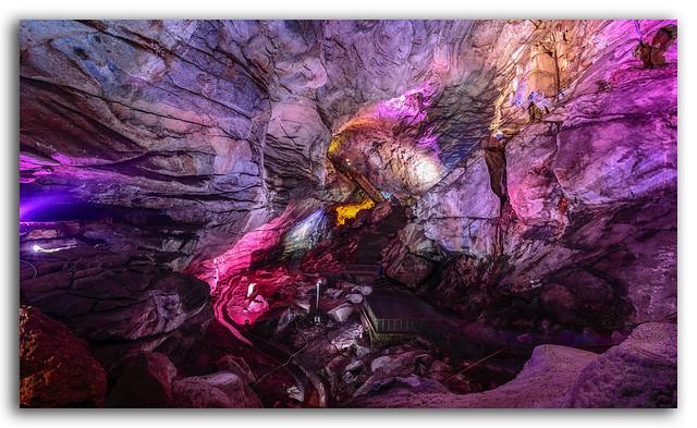 Deep, dark & colorful Borra Caves!