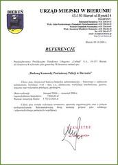 Referencje Urzędu Miejskiego w Bieruniu 2006r. (budowa Komendy Powiatowej Policji w Bieruniu)