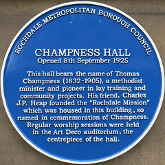 Photo of Thomas Champness blue plaque