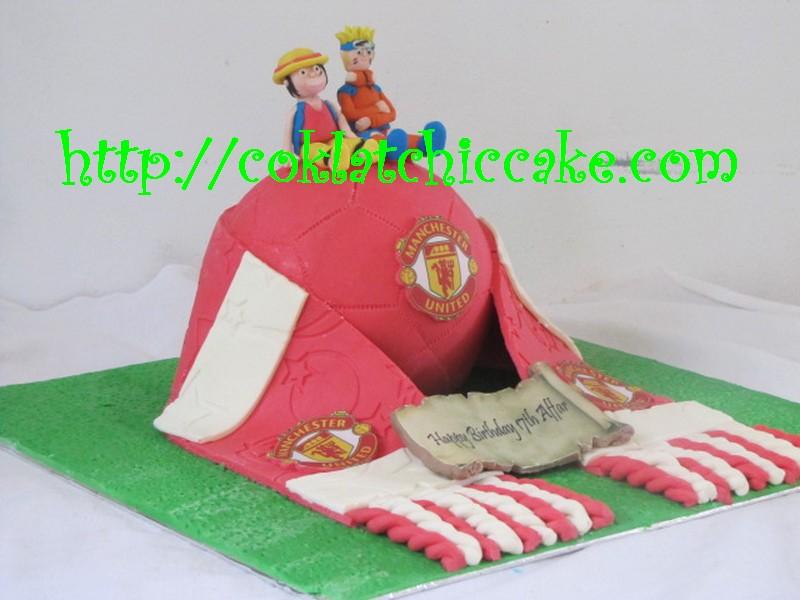 Kue ulang tahun manchester united, naruto dan luffy