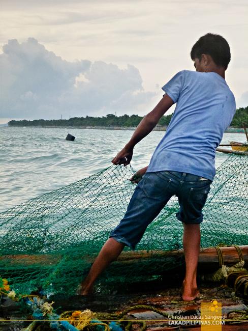 Lambaklad Fishing at Tibiao, Antique