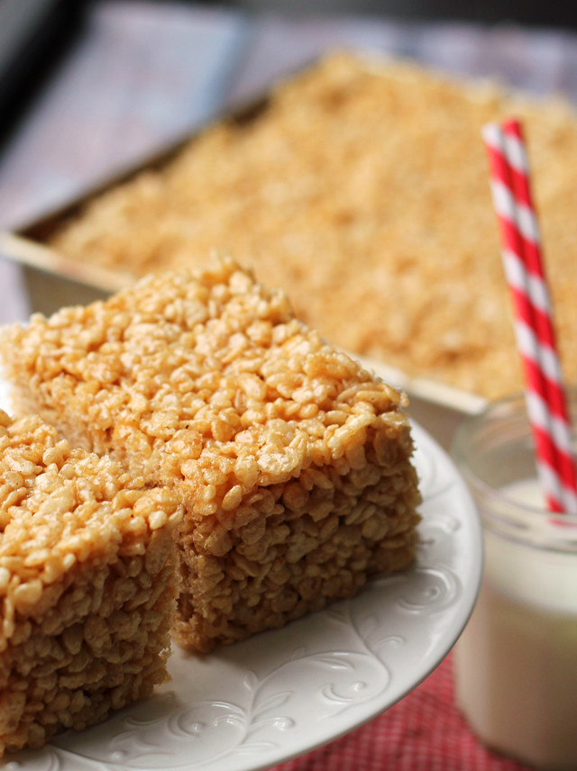 Salted Caramel Brown Butter Rice Krispie Treats | Joanne ...
