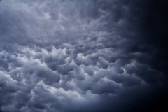 Mammatus Cloud action over #Leeds after the #thunderstorms