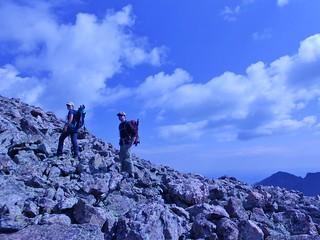 Jane and Bobby Climbing Holy Cross Ridge
