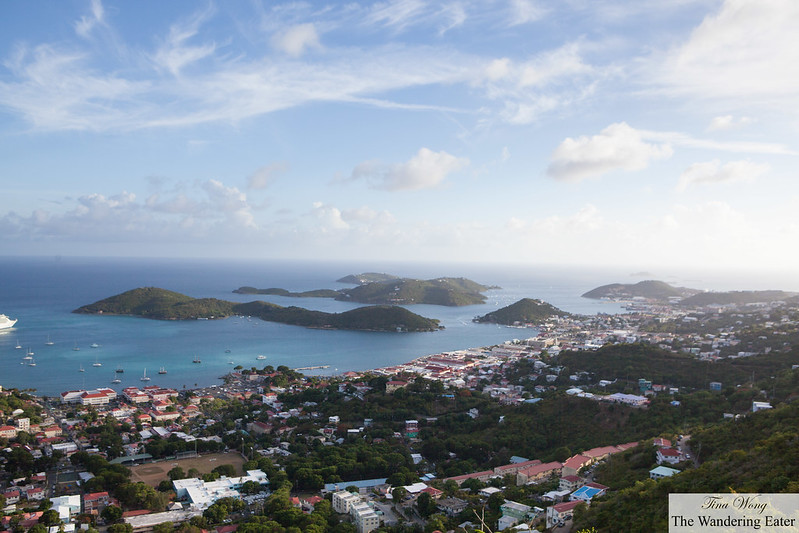 First Day At St Thomas Us Virgin Islands Mountain Top Dinner At Fat Turtle Night Kayaking