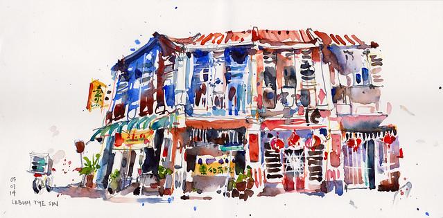 Old shophouses @ Lebuh Tye Sin