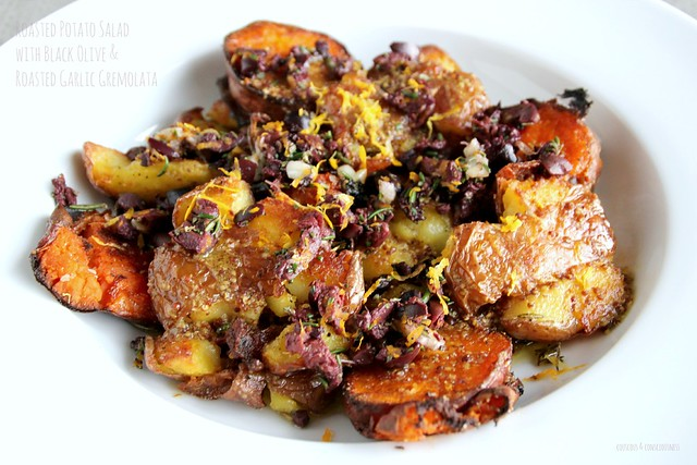Roasted Potato Salad with Black Olive & Roasted Garlic Gremolata 2
