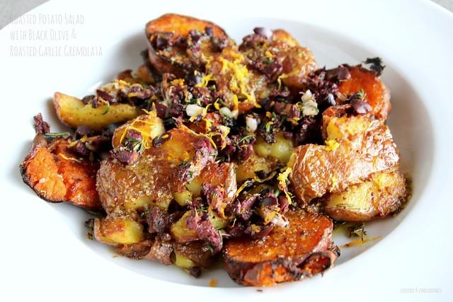 Roasted Potato Salad with Black Olive & Roasted Garlic Gremolata 2