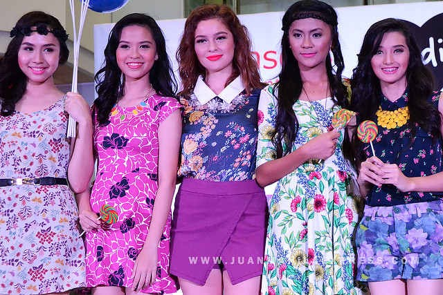 BLACK SHEEP CLOTHING BRAND. Andi Eigenmann, Black Sheep's newest endorser, with the Black Sheep models.