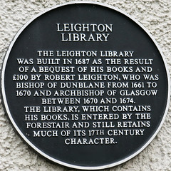 Photo of Robert Leighton black plaque