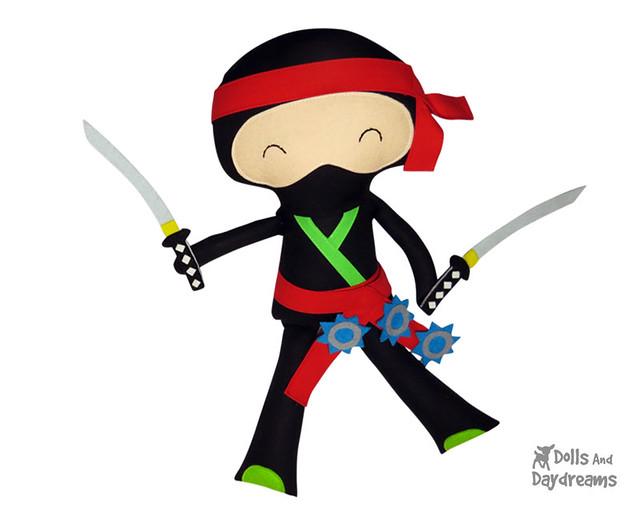 Ninja Samurai DIY doll