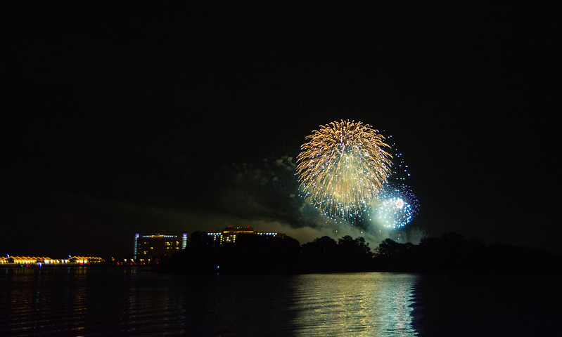 Fireworks over Contemporary