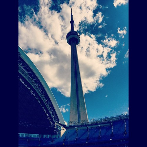 CN Tower #toronto #baseball #mlb #bluejays #vacation #travel #kategoestocalifornia #pregameshow