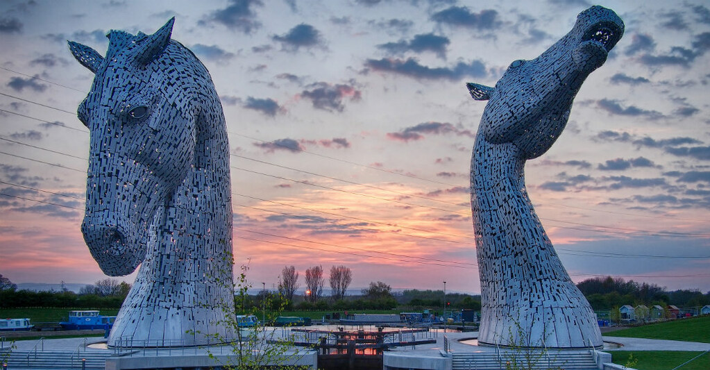The Kelpies, Red Sky
