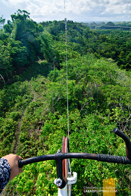 Bike Zip Line at the Chocolate Hills Adventure Park (CHAP)