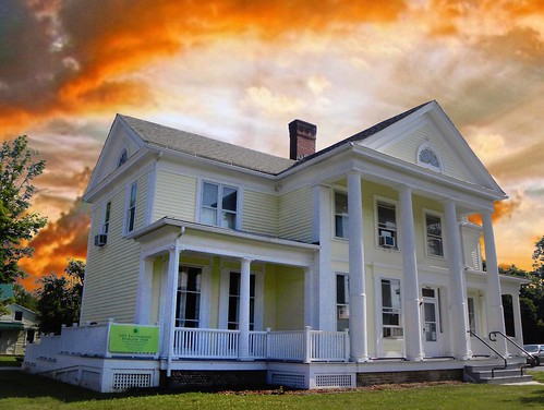 sunset sky house ny newyork st architecture clouds aka greek george bath state congressman w colonial style william historic historical restoration 16 mansion pillars reuse revival adaptive the banker churchpeople scap hallock nrhp steubencounty onasill
