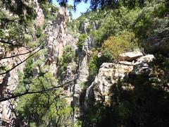 Au col dans le contournement par le maquis de la 3ème cascade de Lora