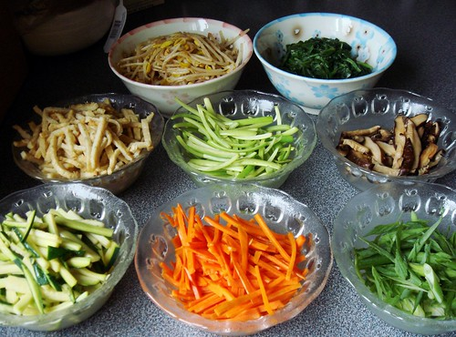 Bibimbap: Toppings