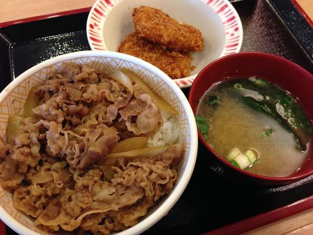 可樂餅牛丼套餐@すき家SUKIYA牛丼