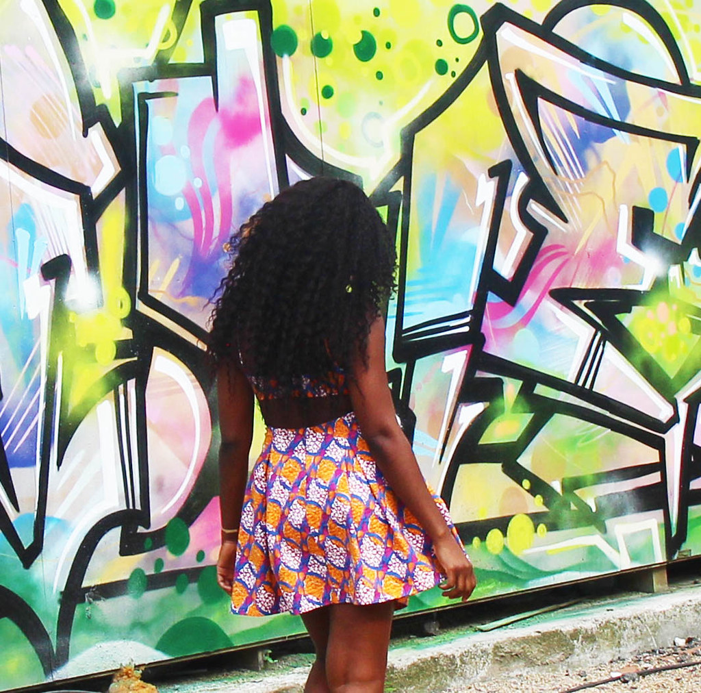 Backless dress, mini dress, curly hair, summer dress