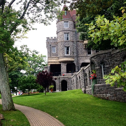 A view of Boldt Castle from the grounds