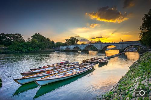 sunset england london river riverside unitedkingdom richmond riverthames