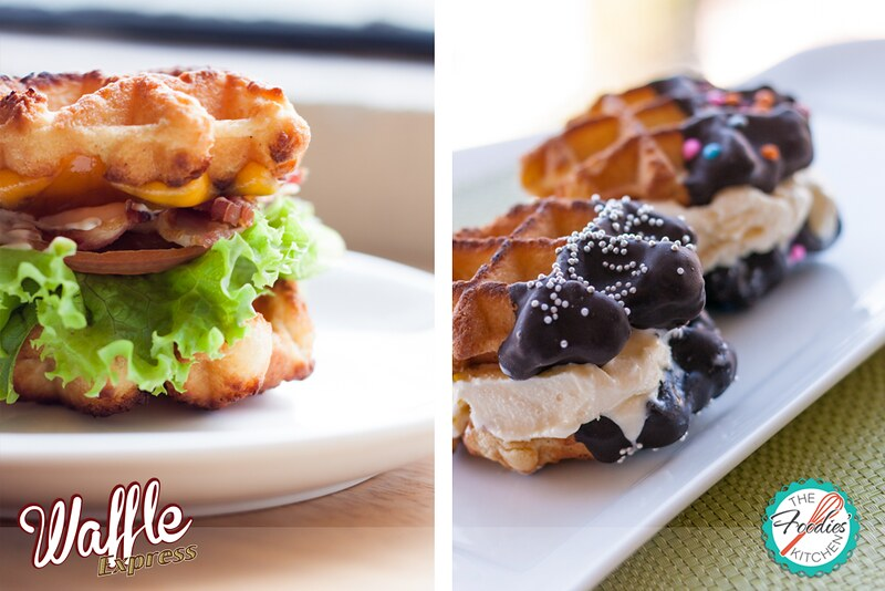 Waffle Express Duo: BLT + Ice Cream Sandwich