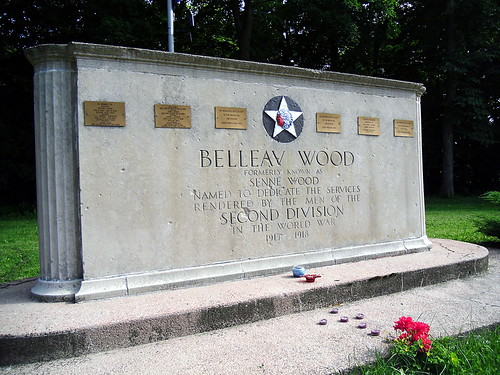 Bellau Wood monument
