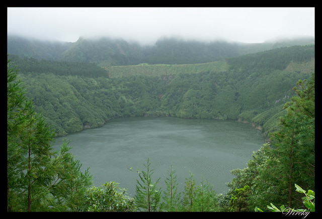 Lago de Santiago en Islas Azores