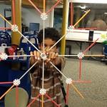 Camryn's giant K'Nex snowflake!