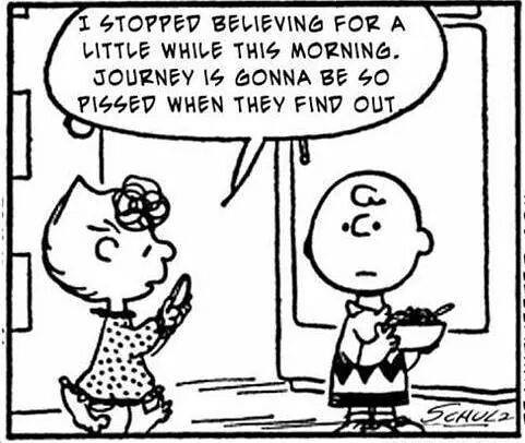 "Peanuts ""I Stopped Believing..."""