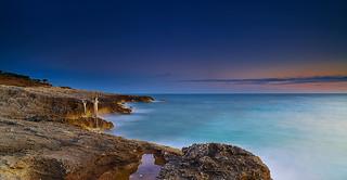 "The coast of ""Peschici"" at 6.01 AM"