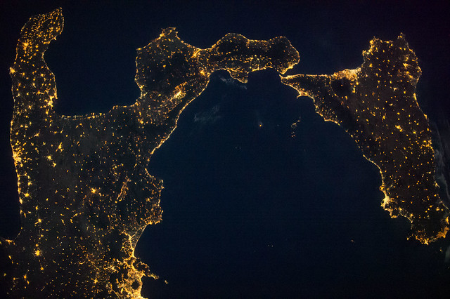 Italy and Sicily (NASA, International Space Station, 08/09/14)