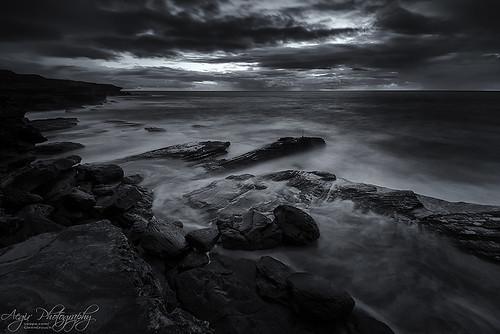 ocean seascape clouds sunrise landscape dawn coast rocks long exposure waves sydney australia cape banks
