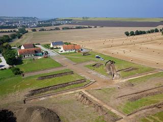 Chantier archéologique à Commes (Calvados-FR)